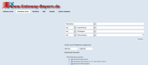Recherche Gateway Bayern Screenshot